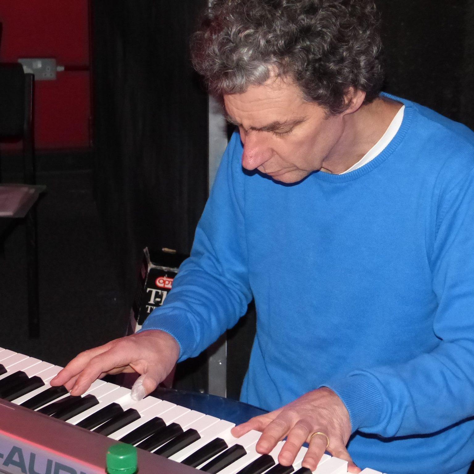 Bern at the piano
