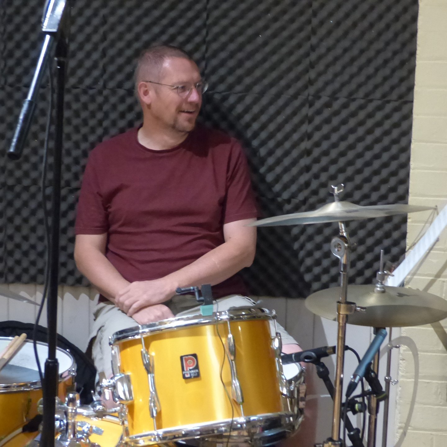 Chris Ford on drums