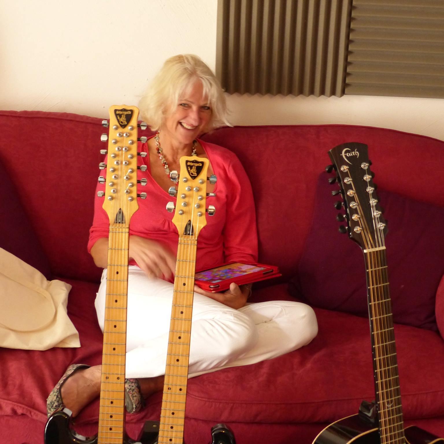 Jo and Colin's guitars